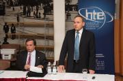 A HTE elnöke és főtitkára -
